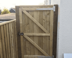 Backyard Wooden Door